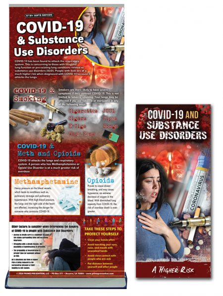 COVID-19 & Substance Use Disorders Retractable Banner & Pamphlet Package