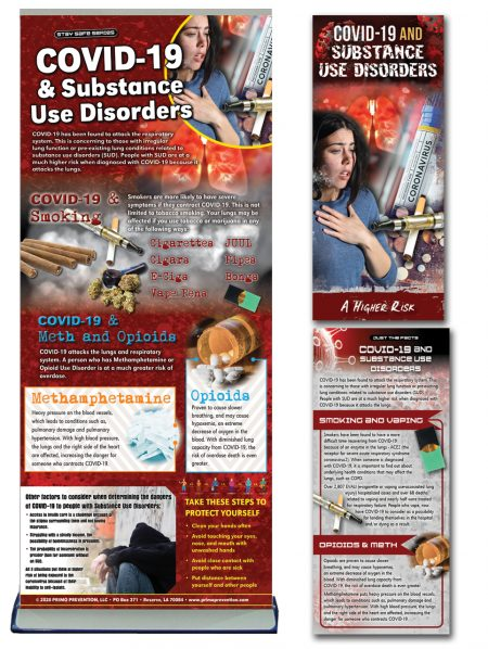 COVID-19 & Substance Use Disorders COMPLETE Retractable Banner Package