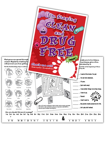 I'm Staying Clean and Drug Free Activity Sheet