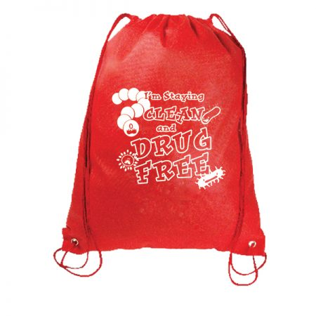 I'm Staying Clean and Drug Free Drawstring Backpack