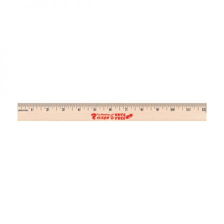 I'm Staying Clean and Drug Free 12 inch Wooden Ruler