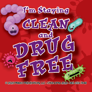 I'm Staying Clean and Drug Free Drug Free Sticker