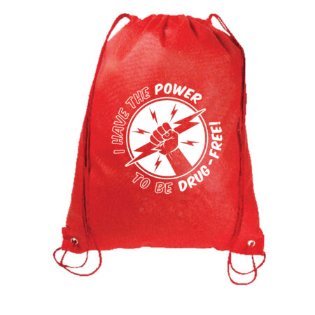 I Have the Power to Be Drug Free Drawstring Backpack