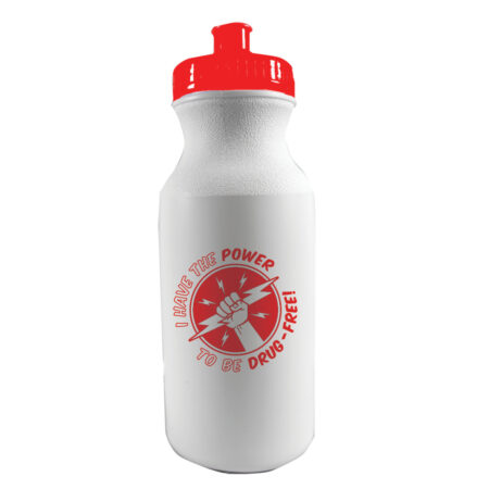I Have the Power to Be Drug Free 20 oz. Sports Bottle