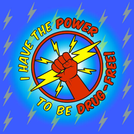 I Have the Power to Be Drug Free Magnet