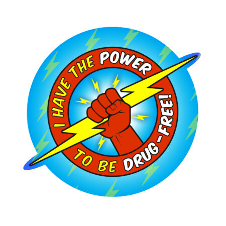 I Have the Power to Be Drug Free DIE CUT Sticker
