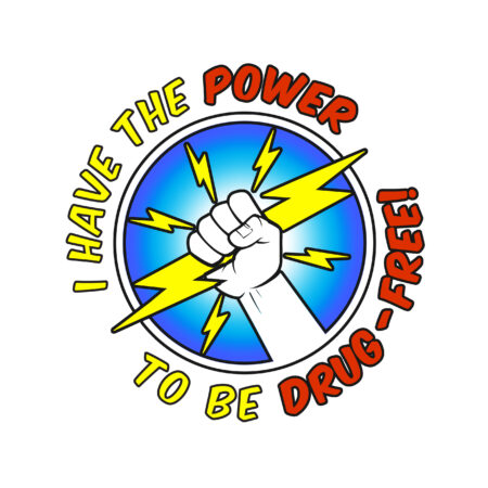 I Have the Power to Be Drug Free Temporary Tattoo