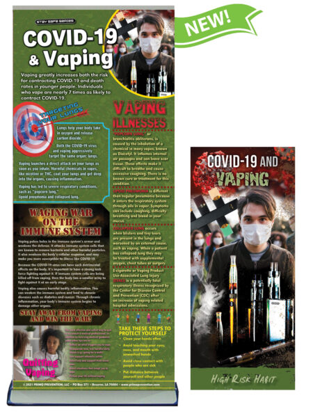 COVID-19 & Vaping Retractable Banner Package